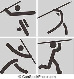 Javelin throw icons