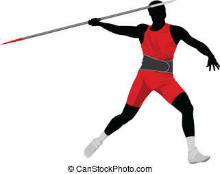 Javelin Throw - Vector illustration of javelin thrower