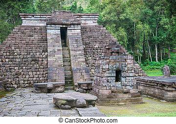 jawa, świątynia, indonezja, sukuh