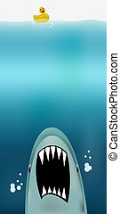 Jaws - Dangerous threat from jaws attacking from the abyss,...