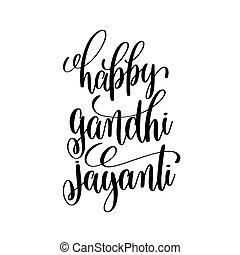 jayanti, ottobre, 2, indiano, gandhi, vacanza, felice