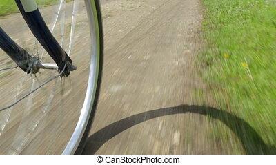 jazda, droga, rower, wiejski