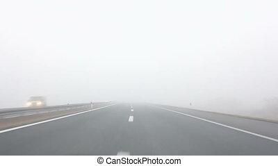 jazda, mgła