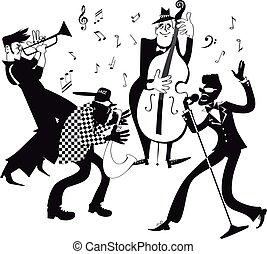 jazz- band, clip-art