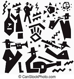 jazz- band, doodles