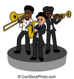 jazz- band, kinder, trio