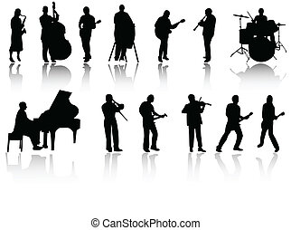 jazz band on white background