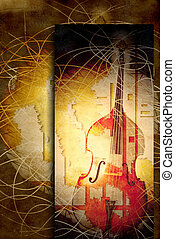 jazz bass background - poster jazz bass in casual and modern...