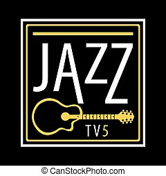Jazz channel musical poster ot icon vector template