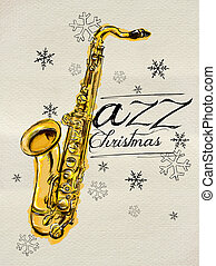 Jazz Christmas saxophone