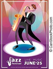 Jazz Festival Cartoon Poster