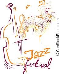Jazz festival. - Creative conceptual music festival vector....