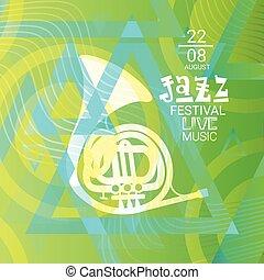 Jazz Festival Live Music Concert Poster Advertisement Banner