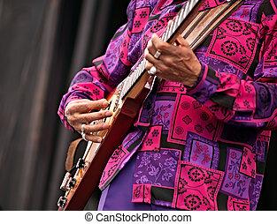 Jazz festival man playing guitar - Live concert, man playing...