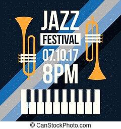 jazz festival music celebration october poster