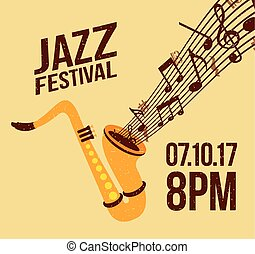 jazz festival music celebration october poster