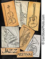 Jazz Festival Music Instrument