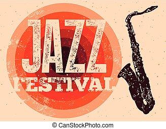 Jazz Festival retro poster.