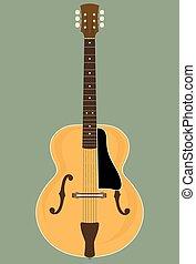 Jazz Guitar - Vector Illustration of a Archtop Jazz Guitar....