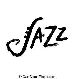 Jazz hand lettering