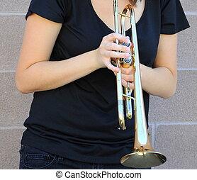 jazz, hembra, musician.