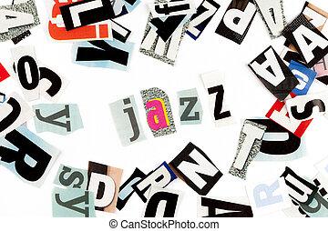 jazz, inschrift