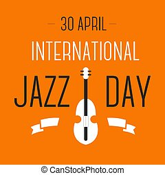 Jazz international day celebration violin musical instrument