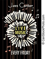 Jazz Live music festival, poster background template.