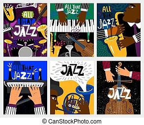 Jazz music banners
