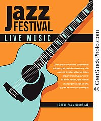 Jazz music concert, poster background template