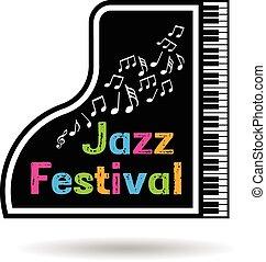 Jazz music festival Logo poster