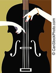 Jazz music festival, poster background.
