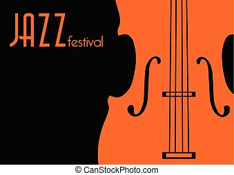 Jazz Music Poster Background Template Vector Graphic Design