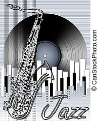 Jazz music festival, poster background template