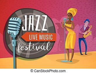 Jazz Music Horizontal Poster