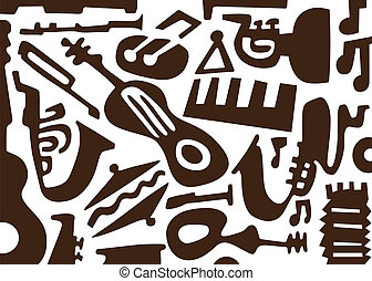 Jazz music instruments -doodles