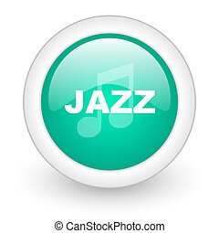 jazz music round glossy web icon on white background
