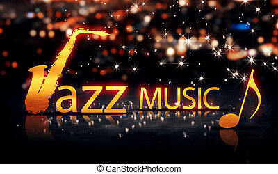 Jazz Music Saxophone Gold City