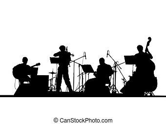 jazz, musical, pessoas