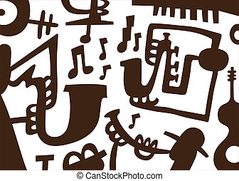 Jazz musicians -doodles - Jazz musicians play on tubes