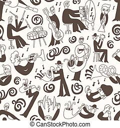 musicians - seamless vector background