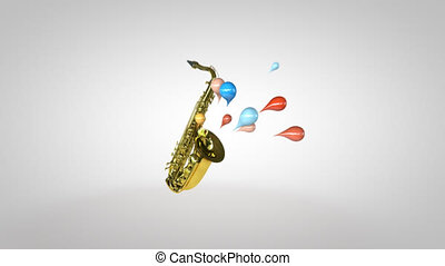 jazz muzyka, -, 3d ożywienie