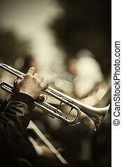 Jazz on the street - jazz band playing on the street, ...