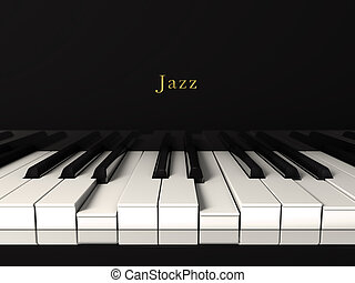 Jazz piano. - Front view of a jazz piano playing. 3d render