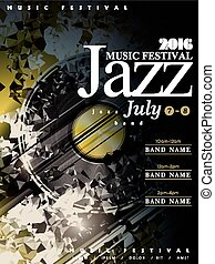 jazz poster template design