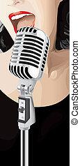 Jazz Singer (vector) - Jazz Singer (XXL jpeg made from...