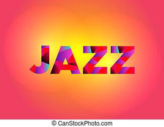 Jazz Theme Word Art Illustration