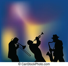Jazz musicians silhouettes