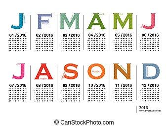 Jazzy calendar 2016