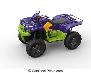 Jazzy purple green quad bike
